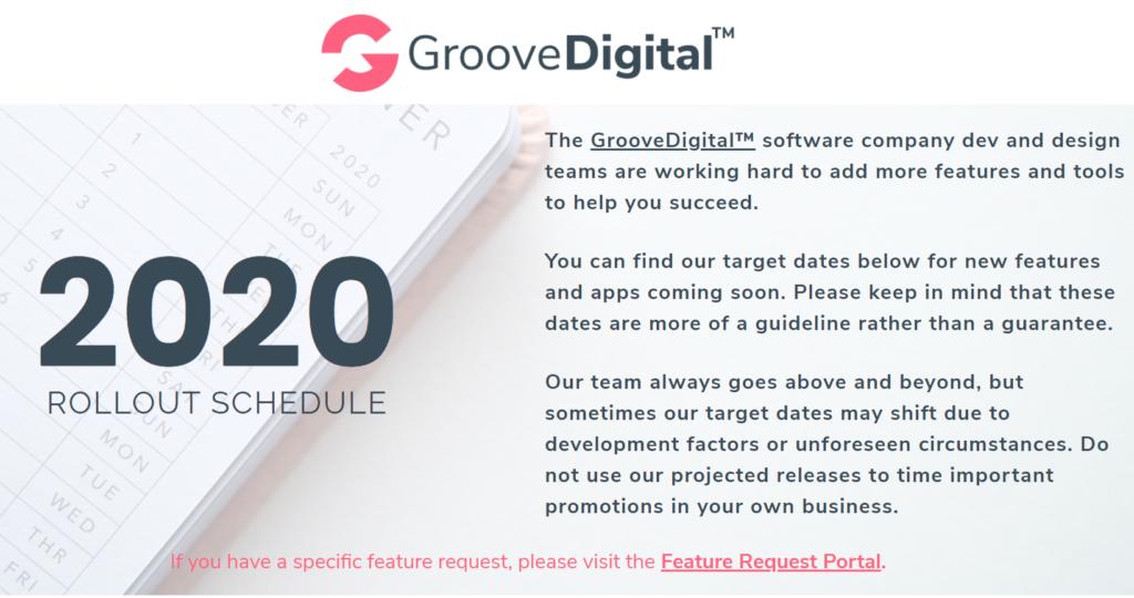 Nieuwe GrooveDigital releases vind je op de roadmap pagina